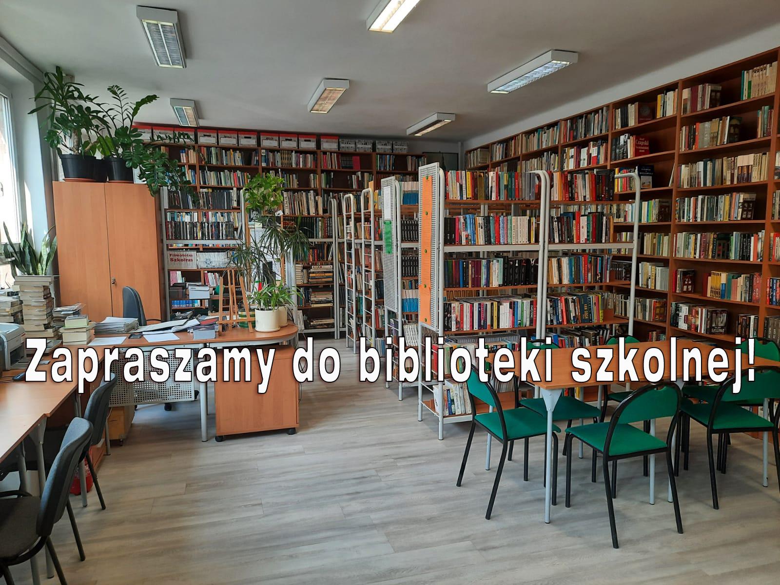 Zapraszamy do biblioteki szkolnej!